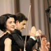 Eduard Topchjan and the Orchestra concertmaster - Karmen Tosunyan