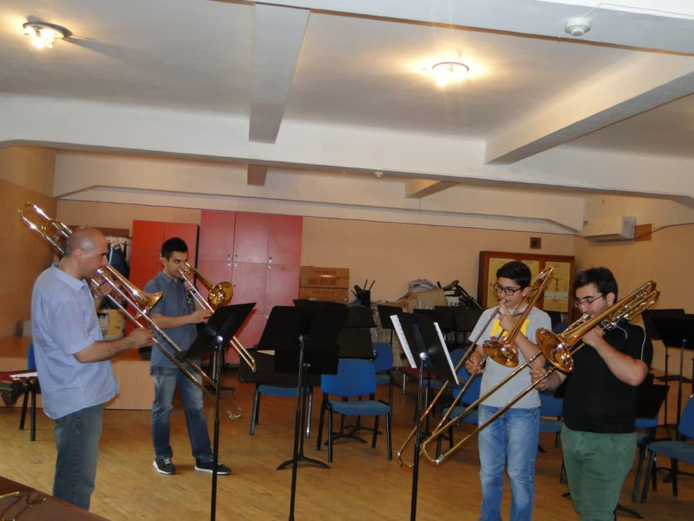 Aristakes Martirosyan and the trombone group day 7