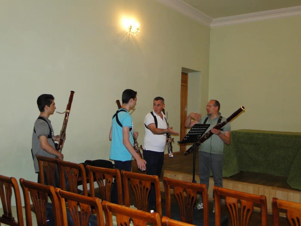Armen Sepetchyan, Erik Arakelyan with professors Andranik Kocharyan and Giuseppe Ciabocchi day_3