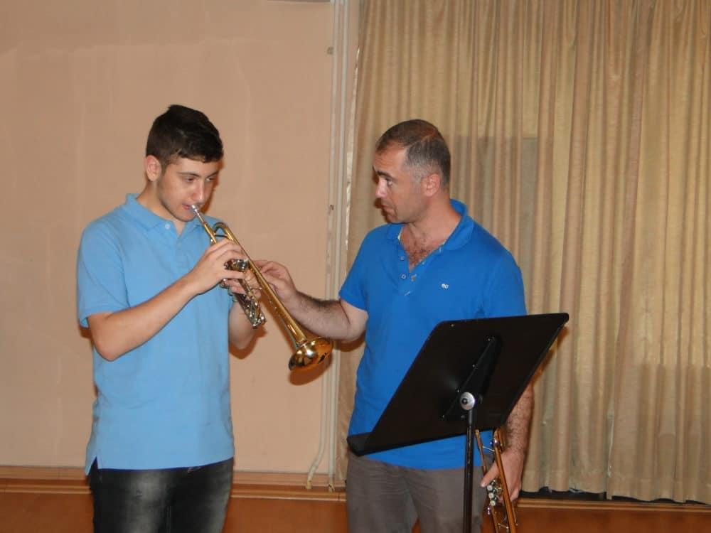 Daniel Melkonyan with trumpetist Armen Mailyan day 6