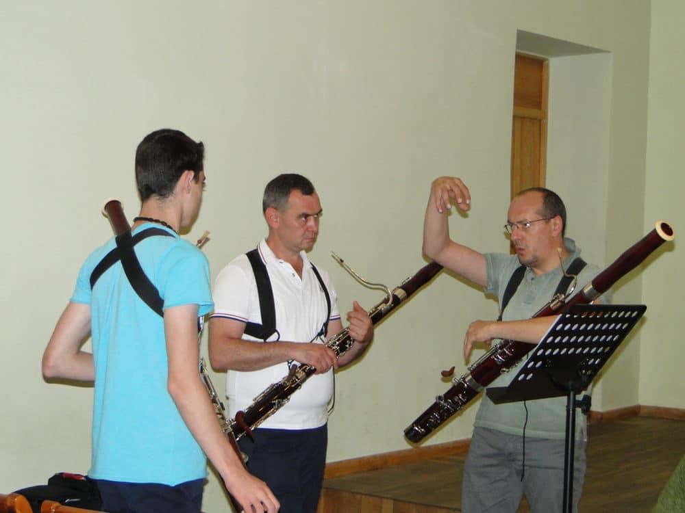 Erik Arakelyan with professors Andranik Kocharyan and Giuseppe Ciabocchi day 3