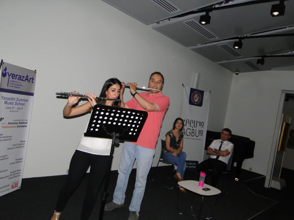 Lusine Stepanyan with flutist Arman Abrahamyan day_6