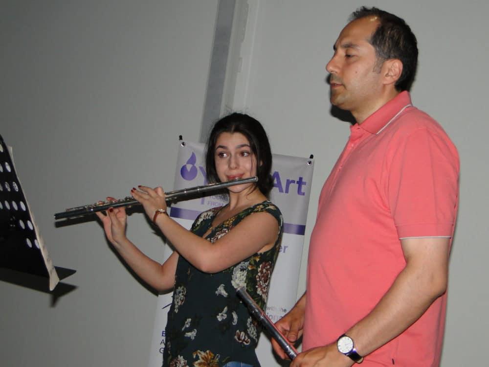 Mariam Gevorgyan with flutist Arman Abrahamyan day 6