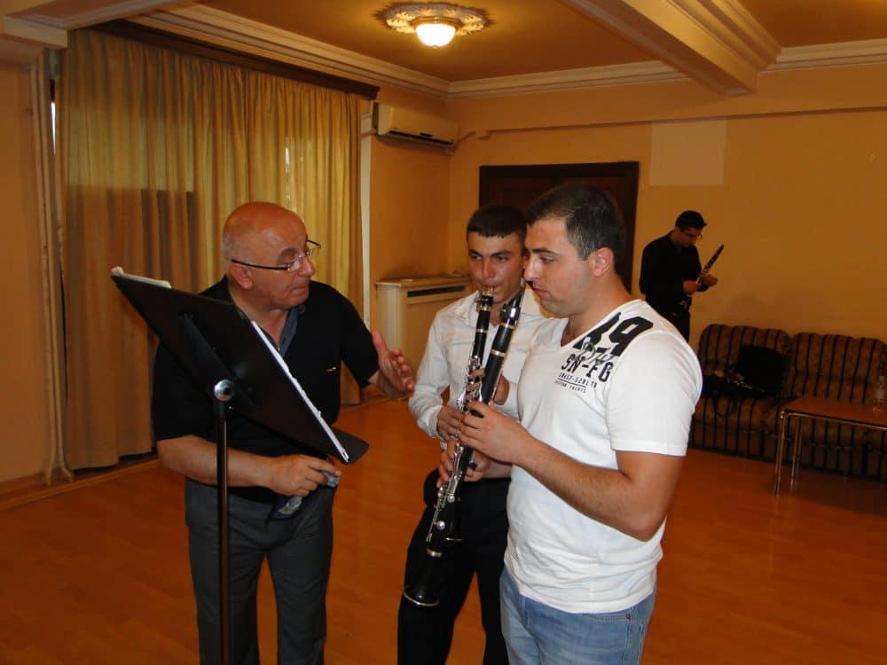 Principal clarinetist Vyacheslav Manucharyan with Davit Sarukhanyan and Misak Gruzyan day 6