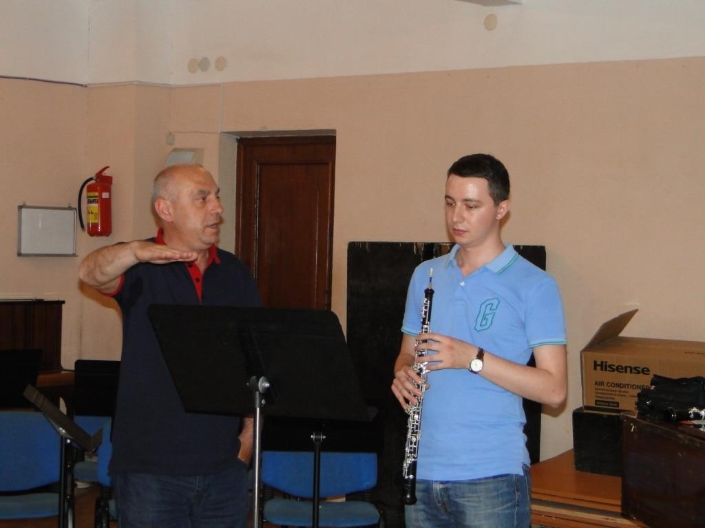 Principal oboe Ashot Galstyan with Robert Abrahamyan day 4