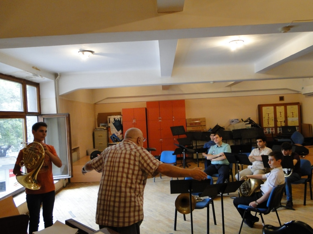 Professor Meruzhan Ter-Minasyan with French horn players day 5