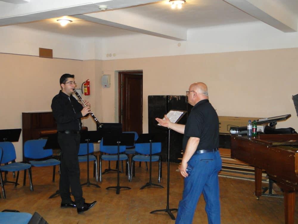 Telman Mkhoyan with principal clarinetist Vyacheslav Manucharyan day 5