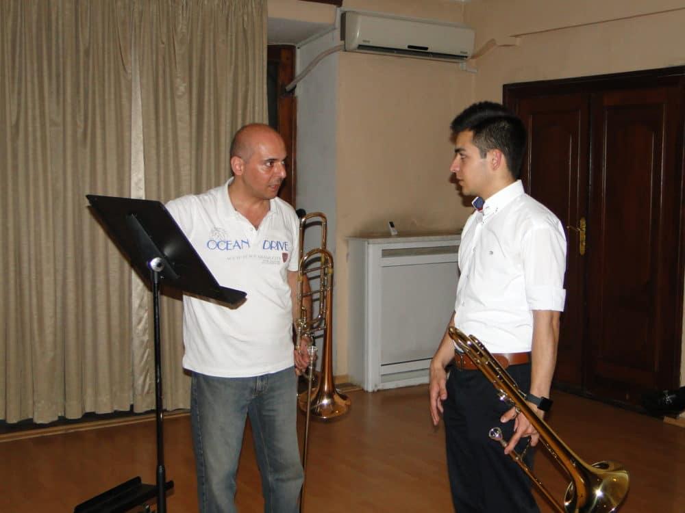 Trombonist Aristakes Martirosyan with Eduard Yerkanyan day 6