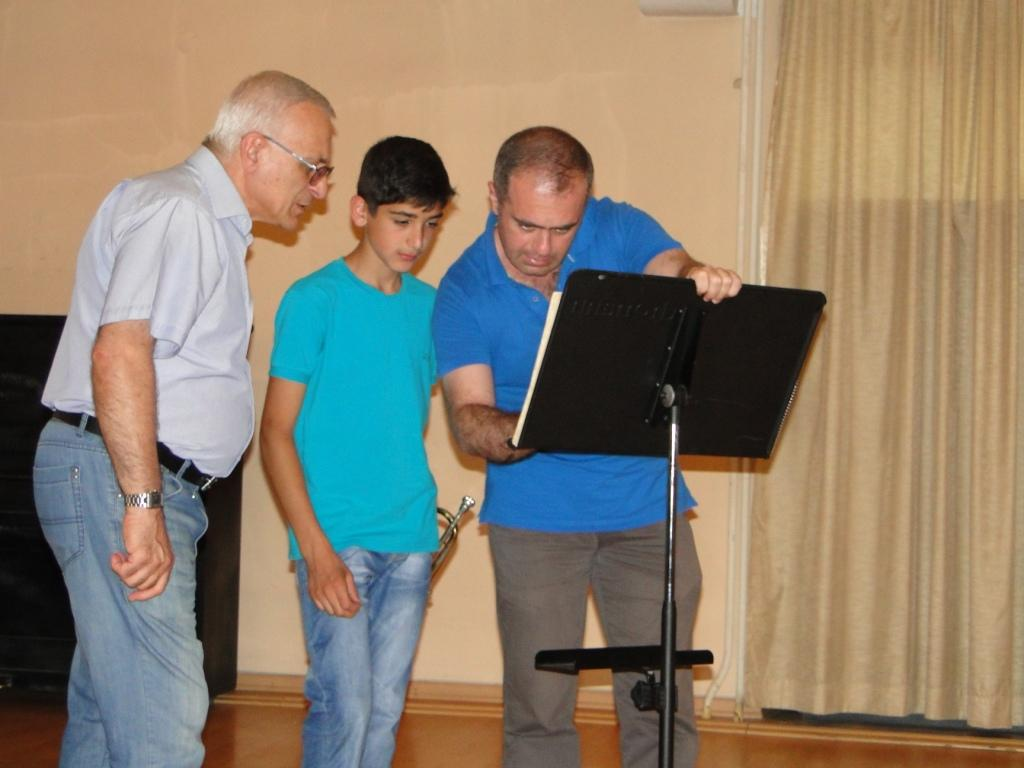 Narek Hovhannisyan with trumpetist Armen Mailyan day 6