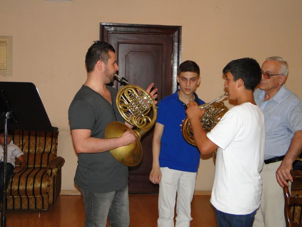 Paolo Rizzuto with the horn group day 2