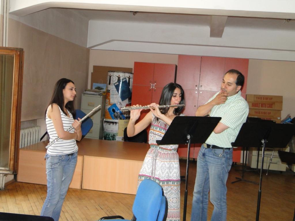 Ruzan Tovmasyan, Lusine Stepanyan with professor Arman Abrahamyan day 2